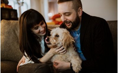 Kate + Kevin's Dog Lovers' Chicago Engagement